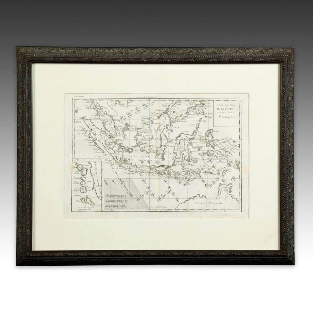 MAP, FRAMED