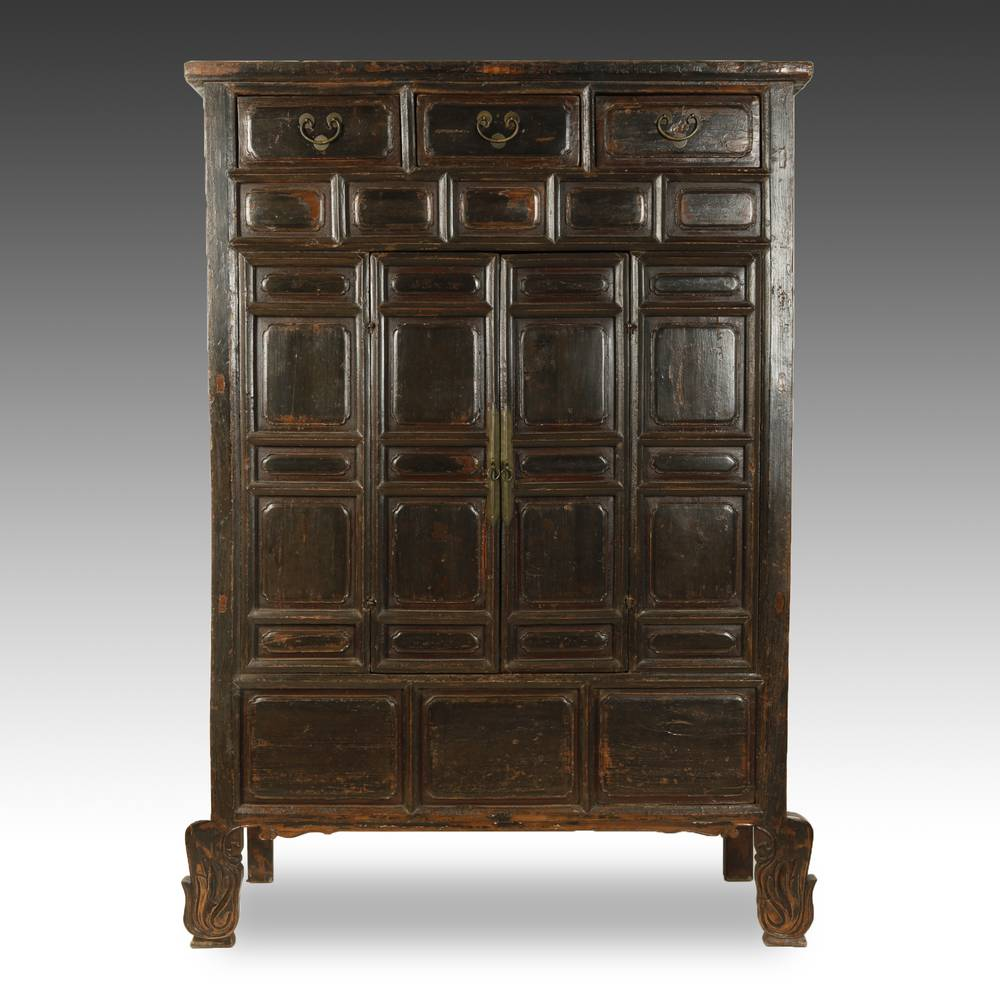 Buddhist Temple Cabinet with 3 Drawers & 2 Doors