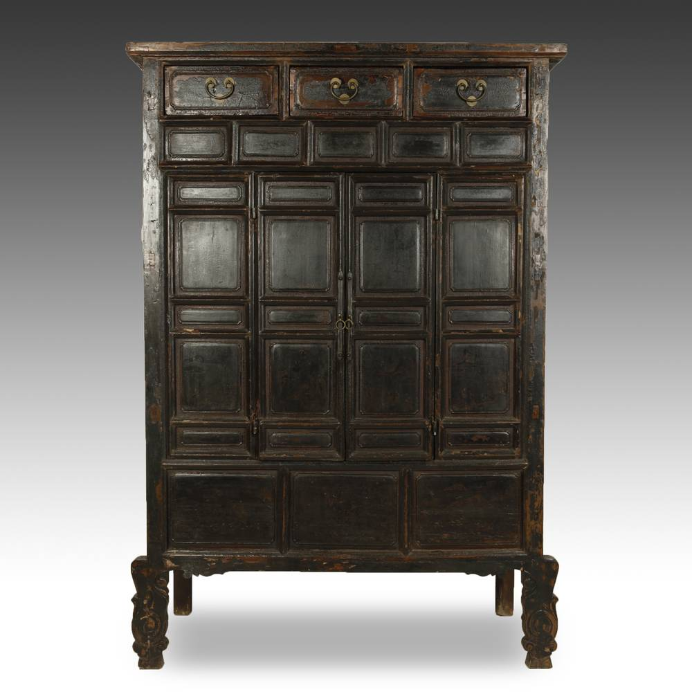 Buddhist Temple Cabinet with 3 Drawers and 2 Doors