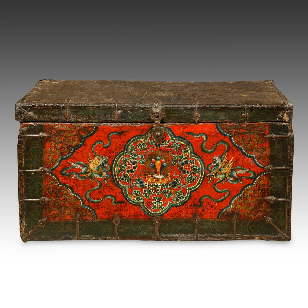 Trunk with Buddhist Motifs