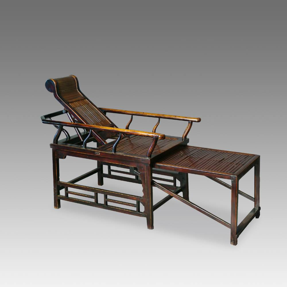 Reclining Chair with Bamboo Slats