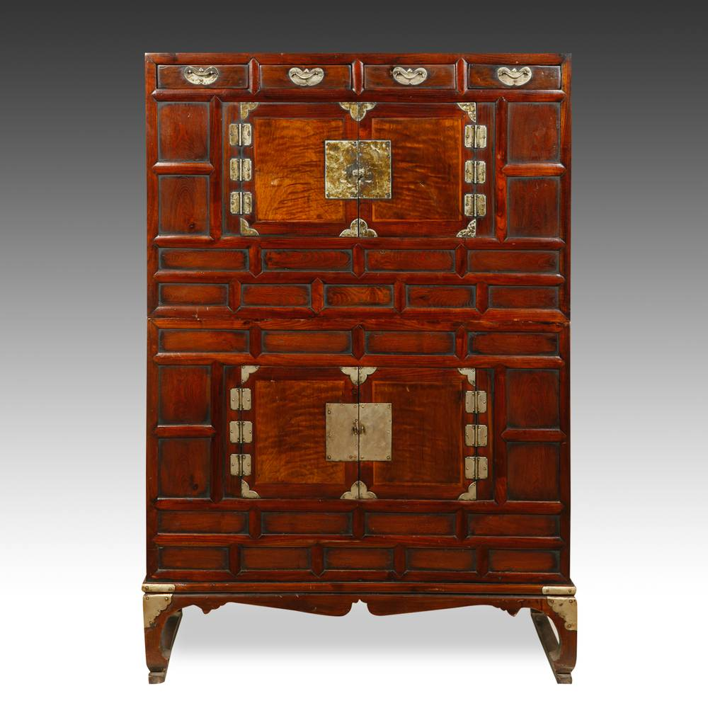 Double Bandaji Cabinet on stand, with 4 drawers & 4 doors
