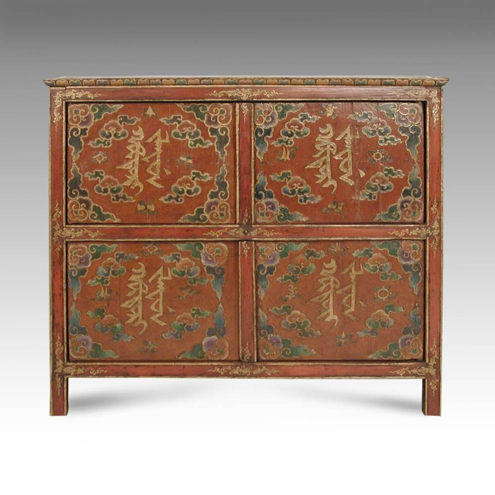 Cabinet with Buddhist Motifs