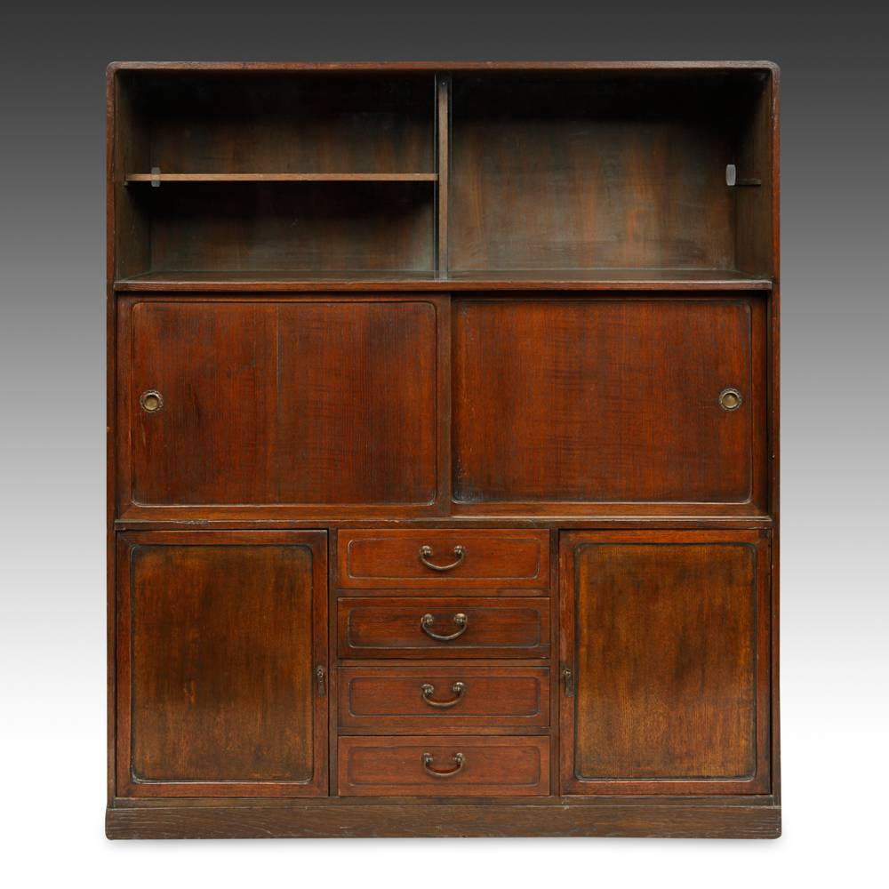 Cha Dansu or Tea Tansu with 4 drawers and 4 doors