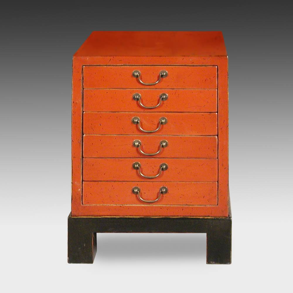 Flat File Side Cabinet with  6 Drawers