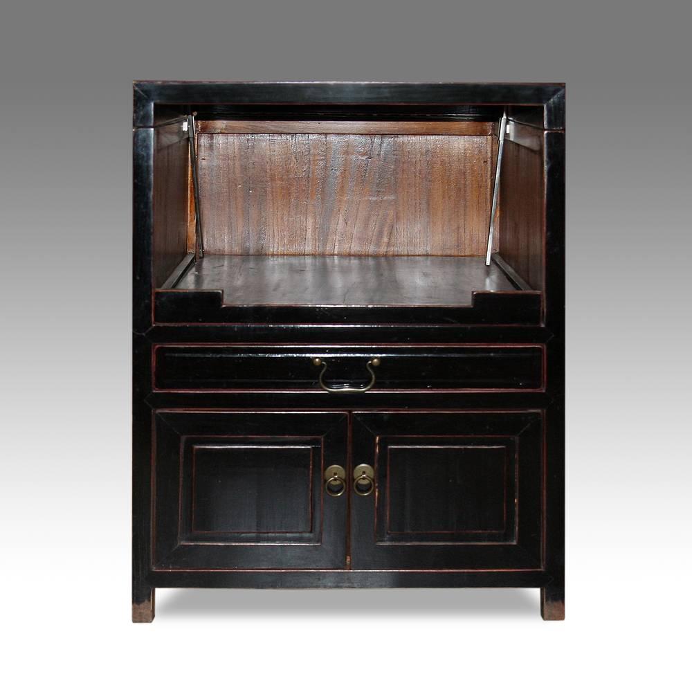 Printer's Cabinet with Hinged Lid, Drawer & 2 Door