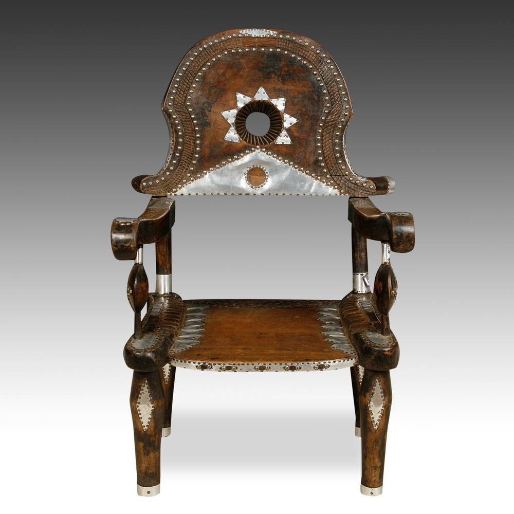 Armchair with Ornamental Metalwork