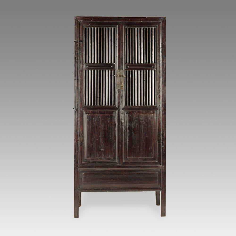 Cabinet with 2 Louvered Doors