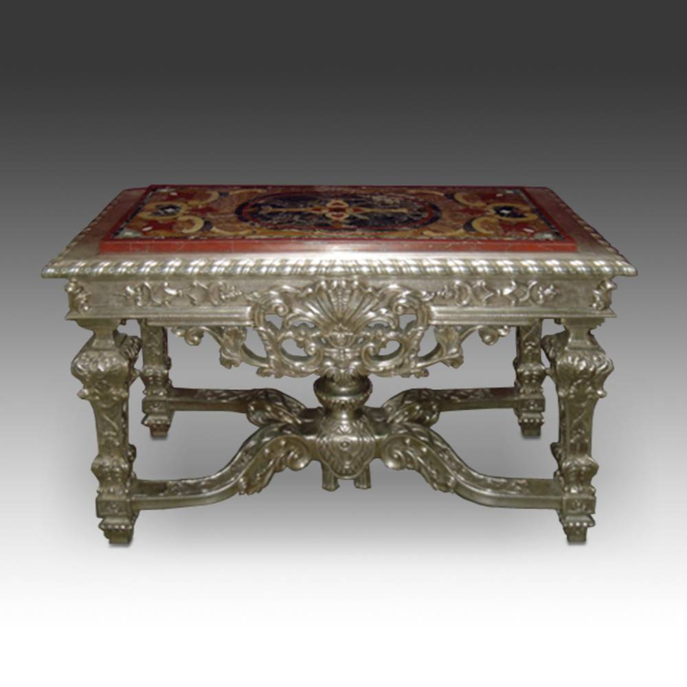 Rococo style Table with Pietra Dura Inset Top