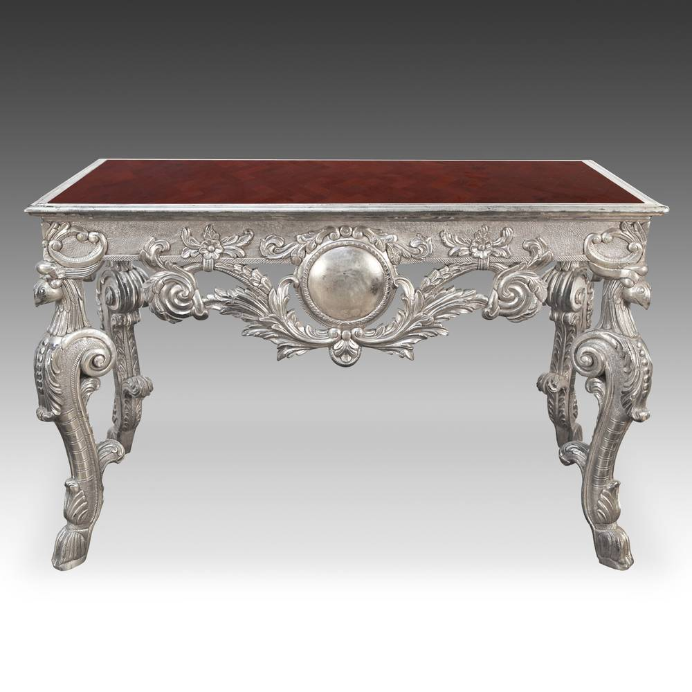 Rococo style Writing Table with Pietra Dura Top