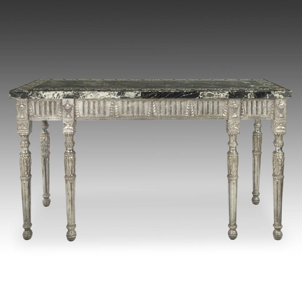 Neoclassical style Console Table with marble Top