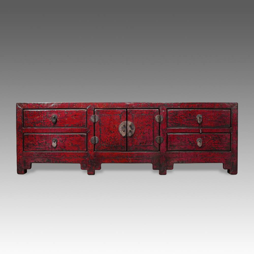 Console Cabinet with 4 Drawers & 2 Doors