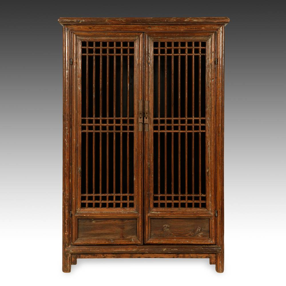 Lattice Cabinet with 2 Doors