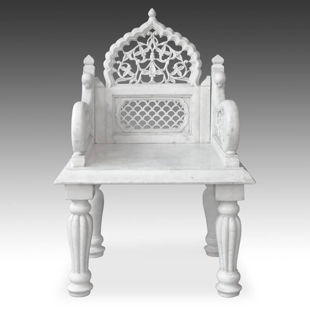 Armchair with jali or pierced-work screen elements