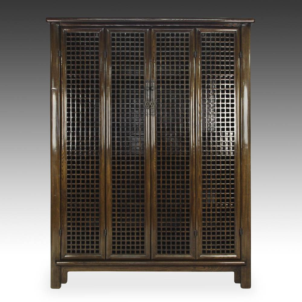 4 Door Lattice Cabinet