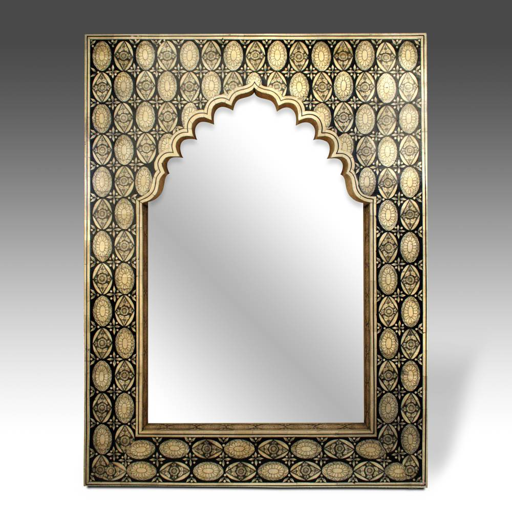 Mirror with Marquetry Mihrab or Prayer Arch
