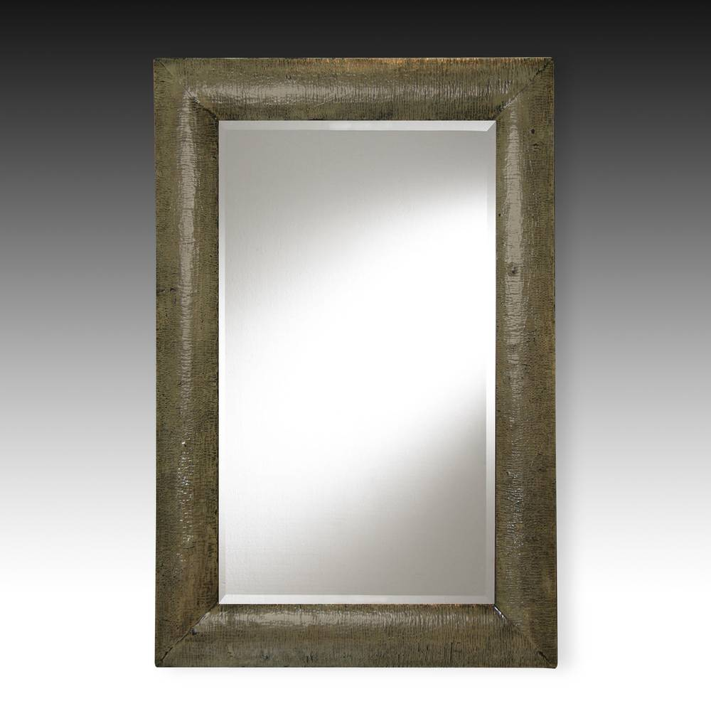 Crackle finish mirror frame