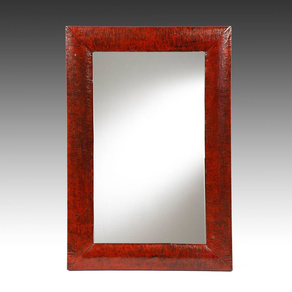 Mirror with Crackle Finish Frame