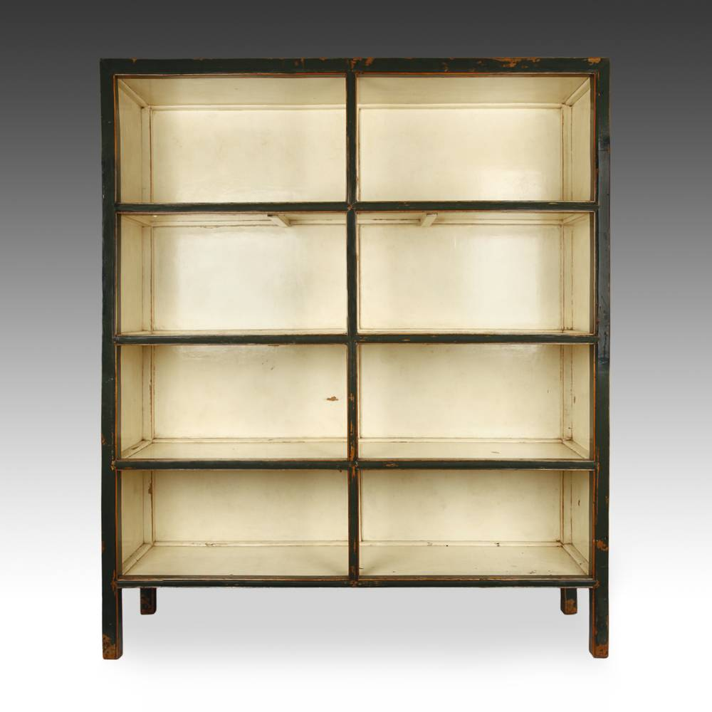 Bookcase with eight compartments