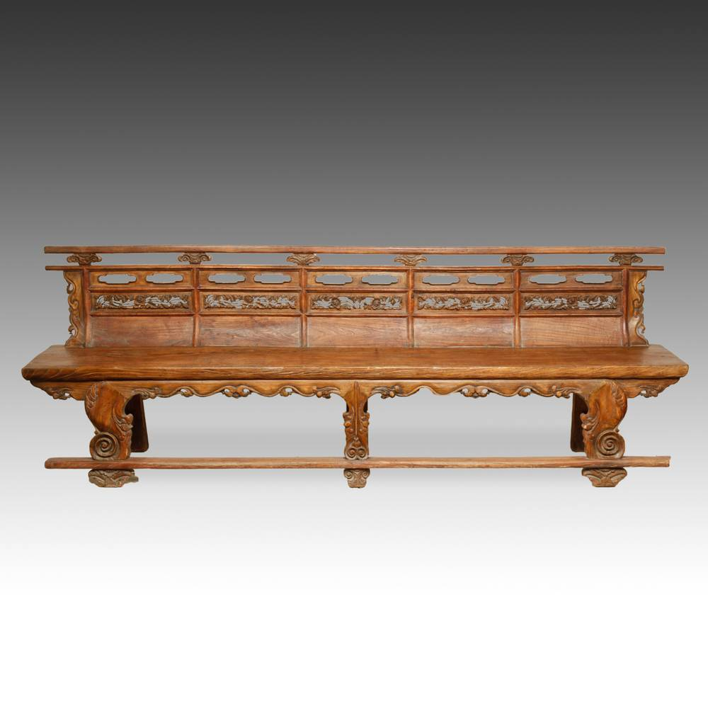 Buddhist Temple Bench