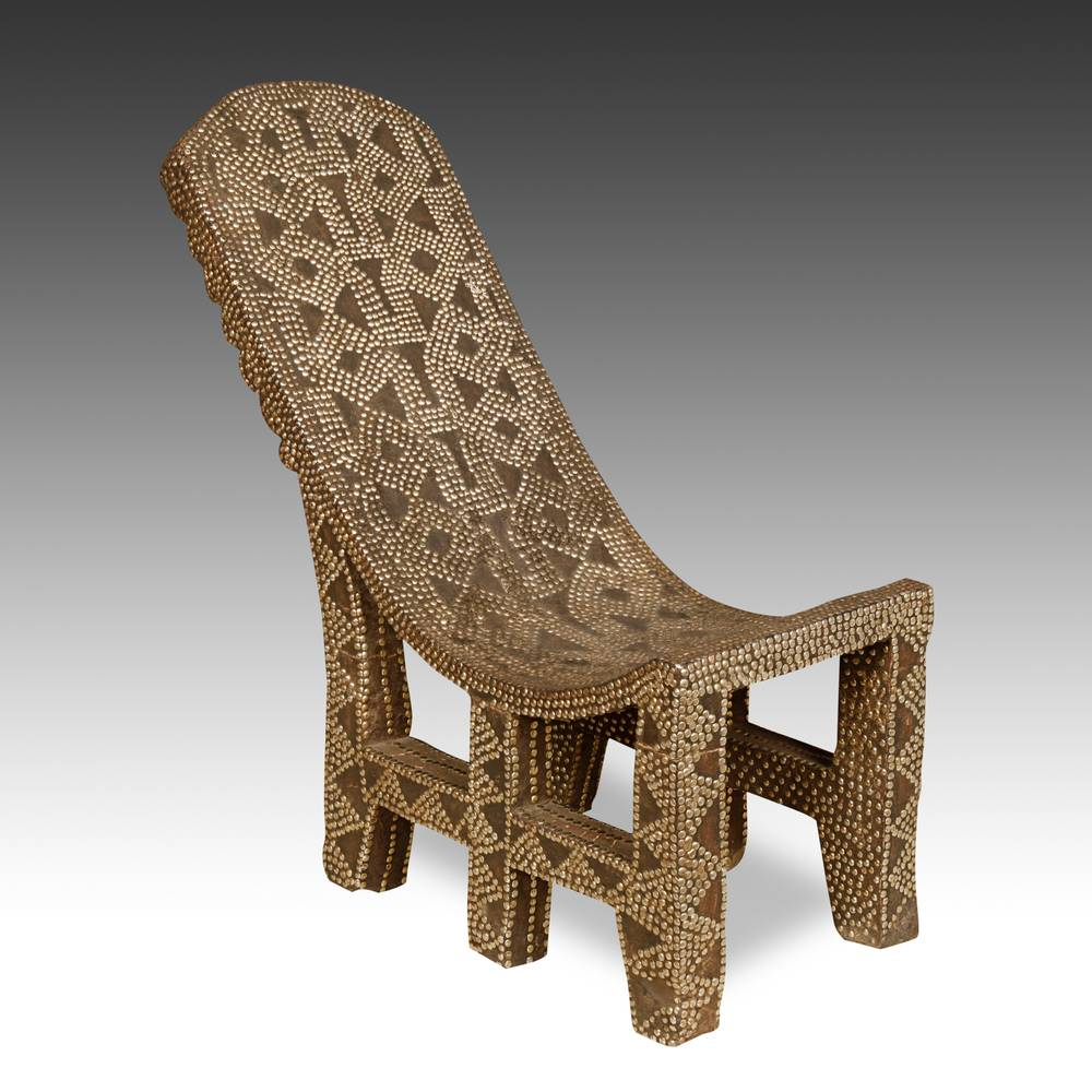 Studded Throne Chair
