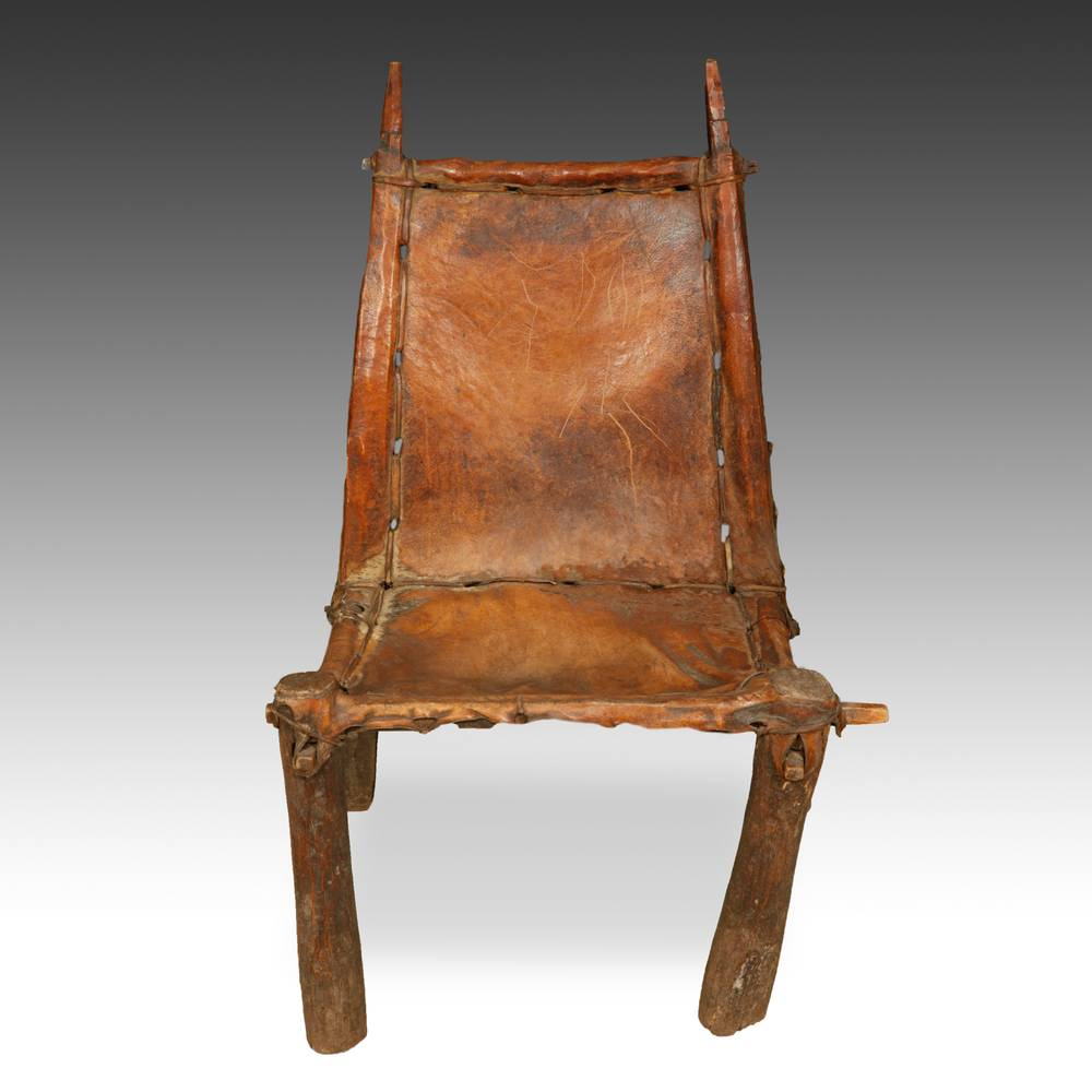Chair with Cowhide Seat & Back