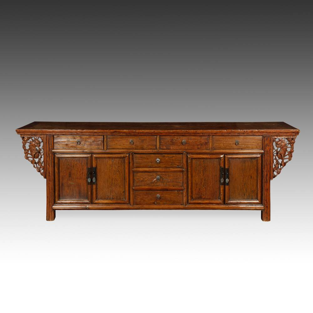 Winged Coffer with 7 Drawers & 4 Doors