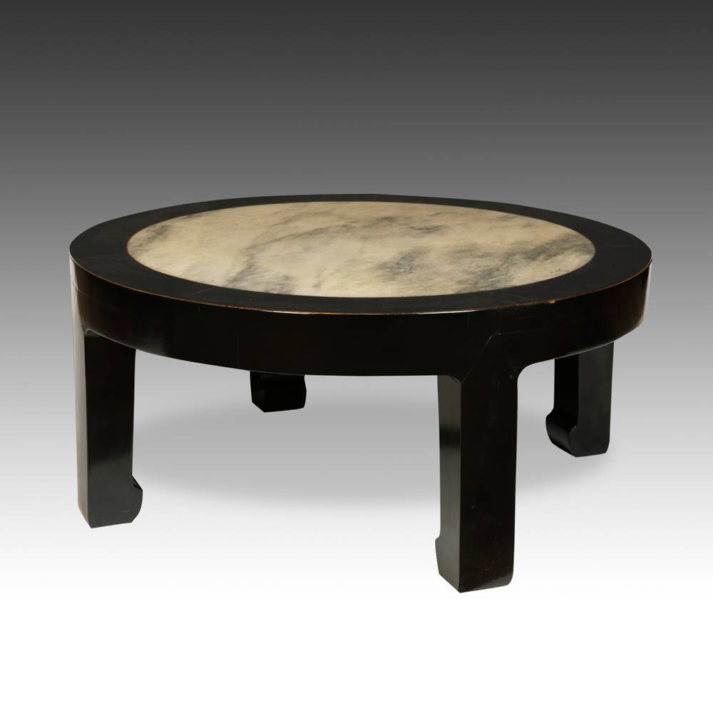 Low Table with stone inset top