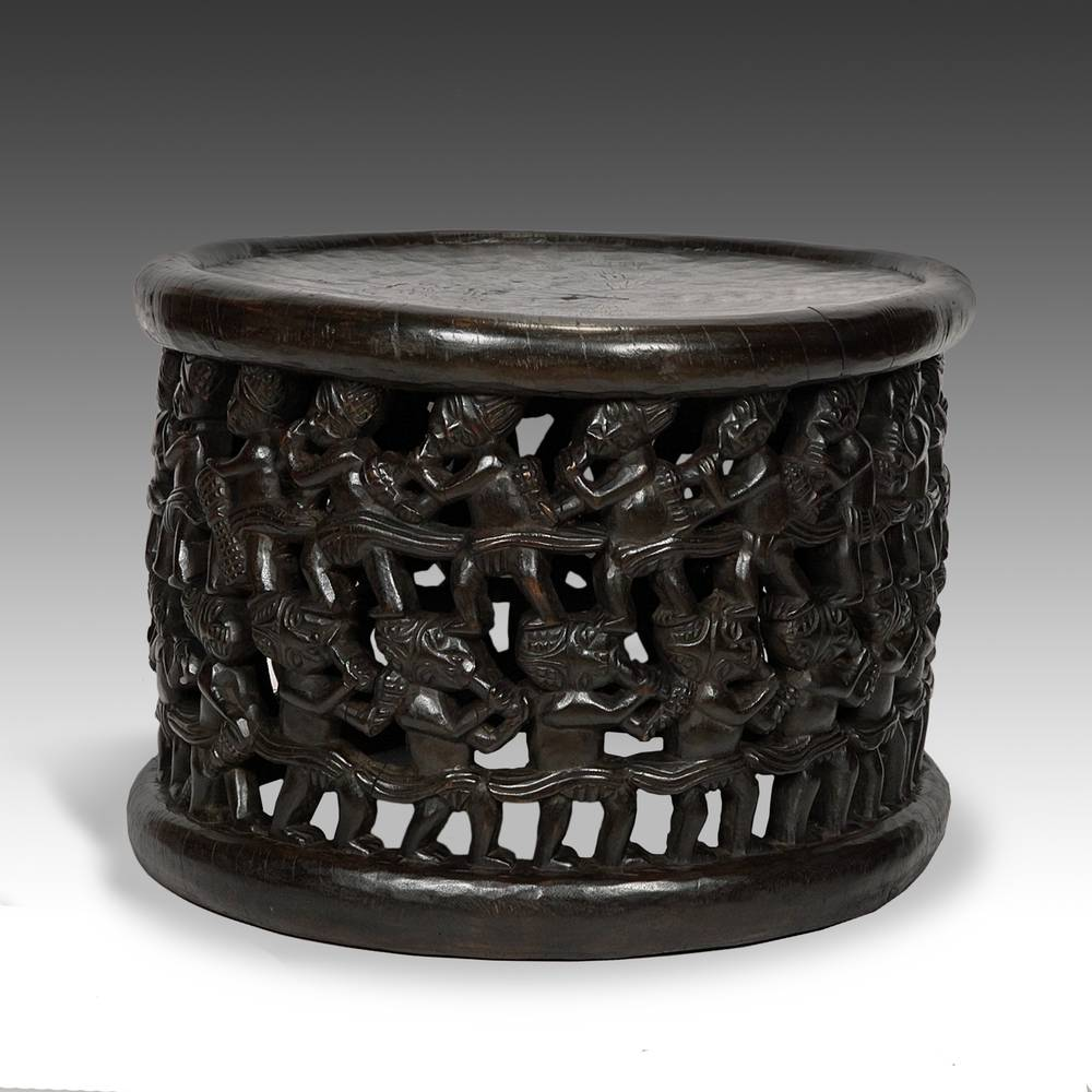 Stool with 2 Rows of Figures