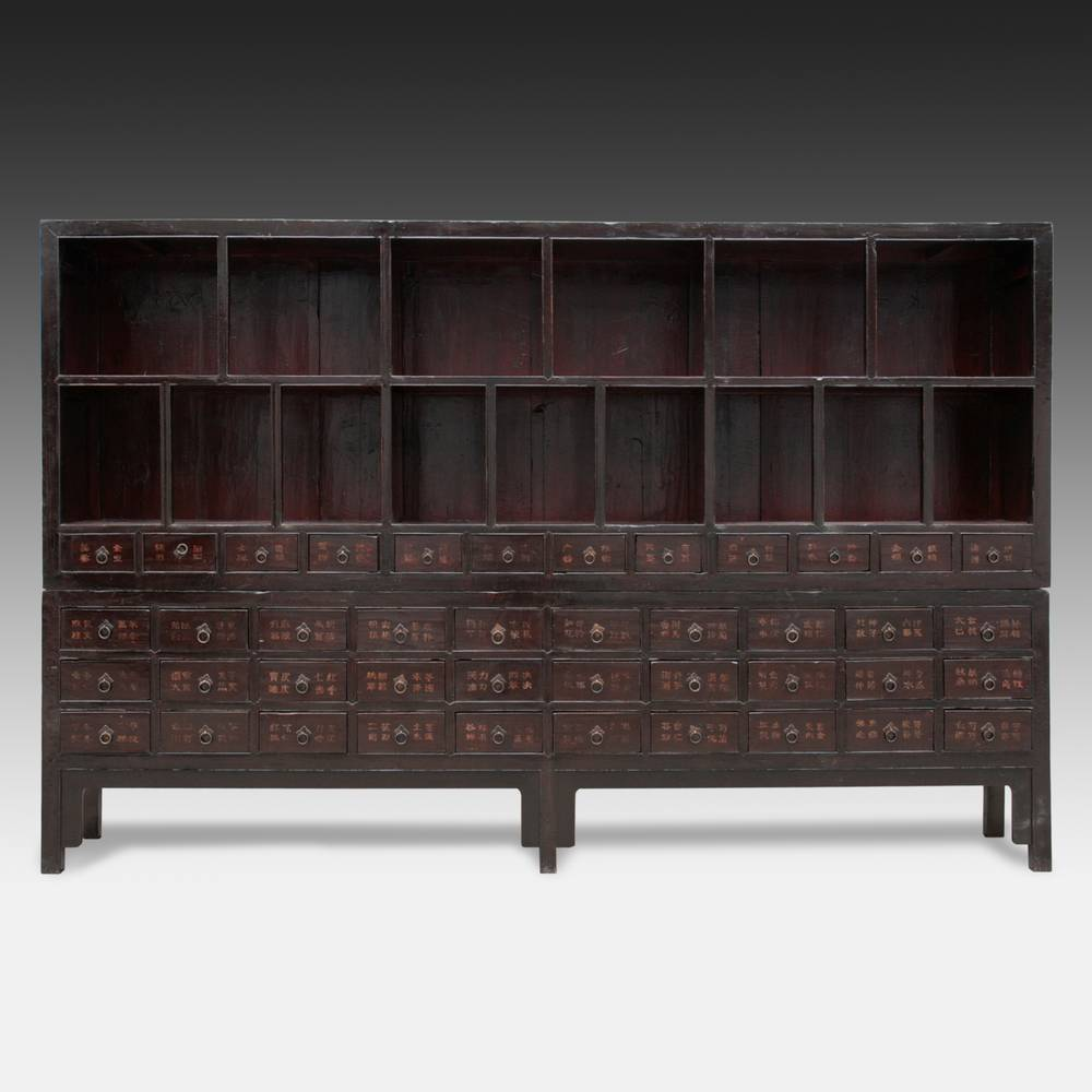 Apothecary Cabinet with 42 Drawers & 15 Compartments