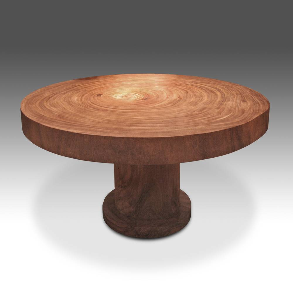 Natural Wood Pedestal Table