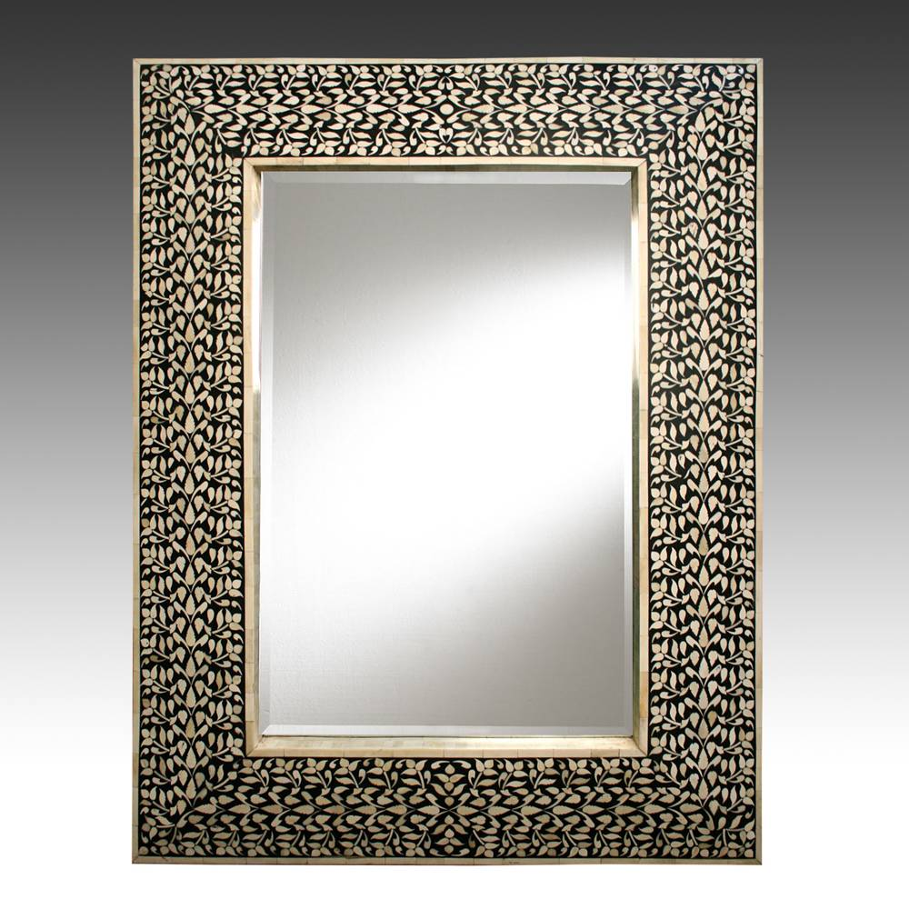 Mirror with Marquetry Frame