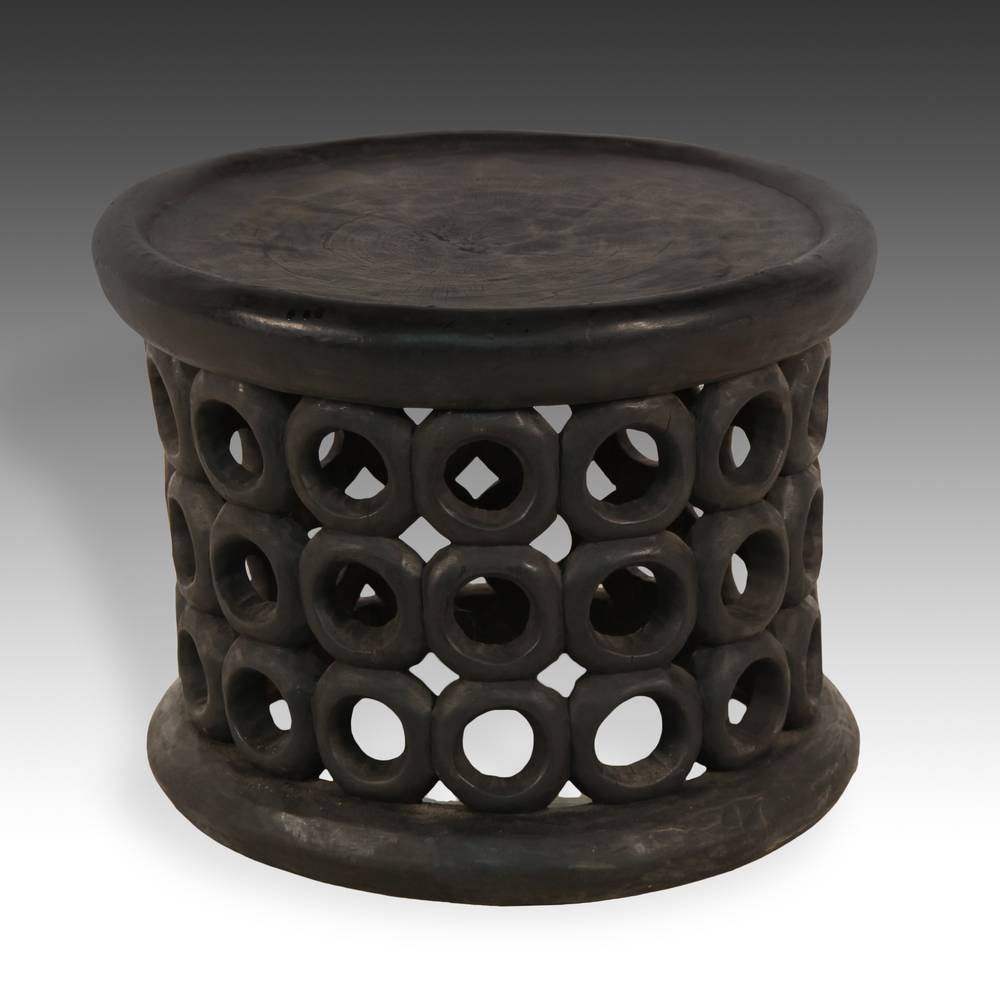 Stool / side table with circle motif