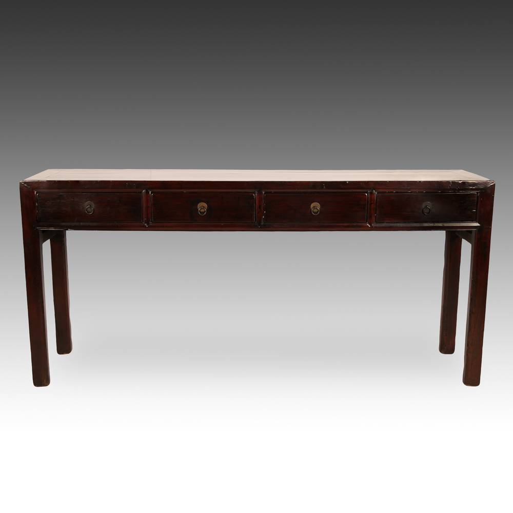Altar or Console Table with 4 Drawers and Hoof Feet