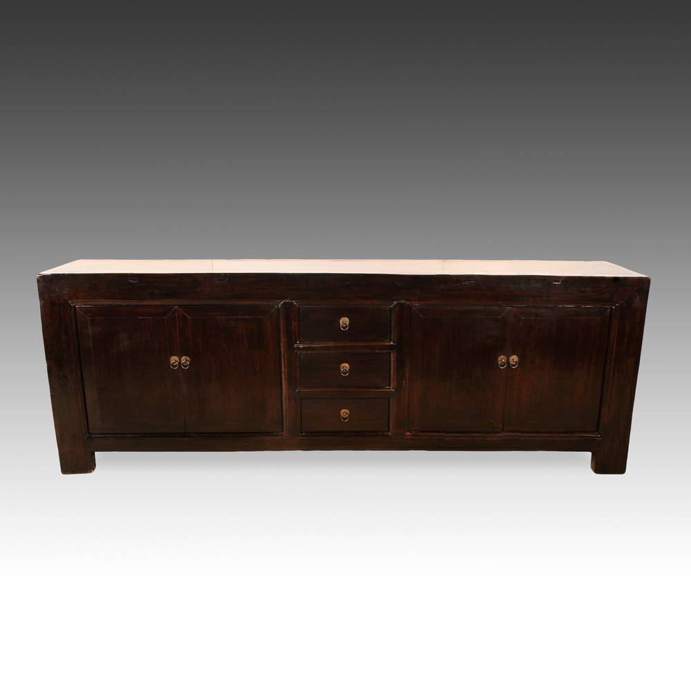 Console Cabinet with 3 Drawers & 4 Doors