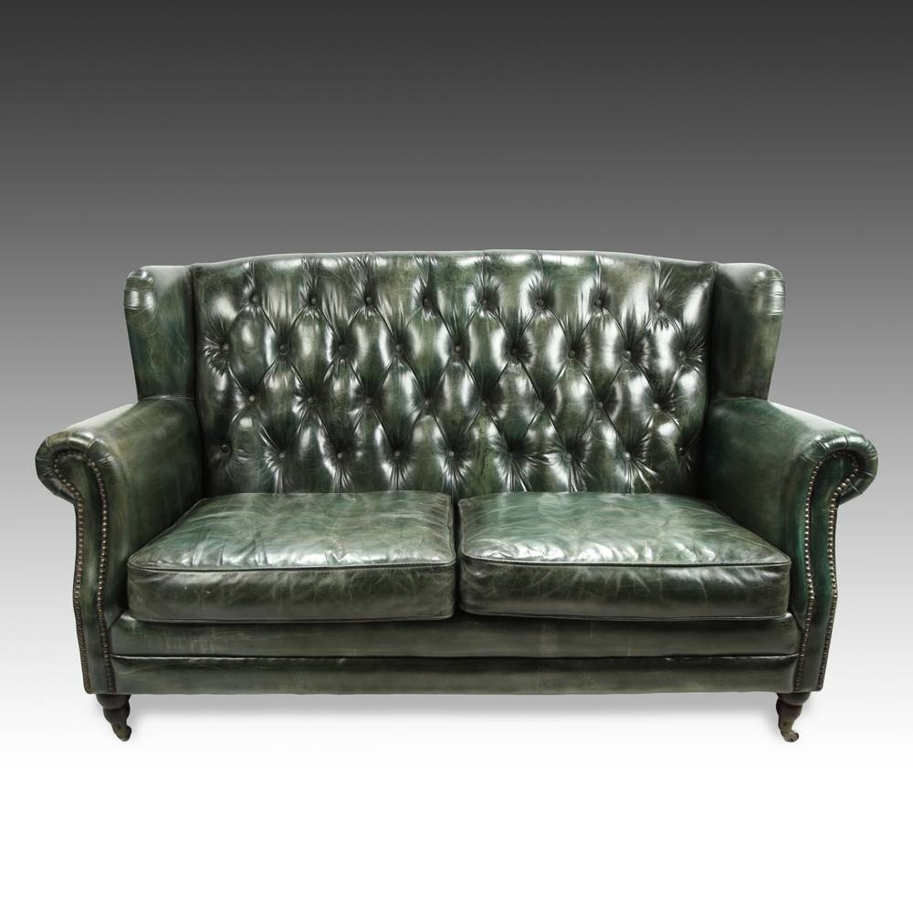 High Back Tufted Two Seat Sofa