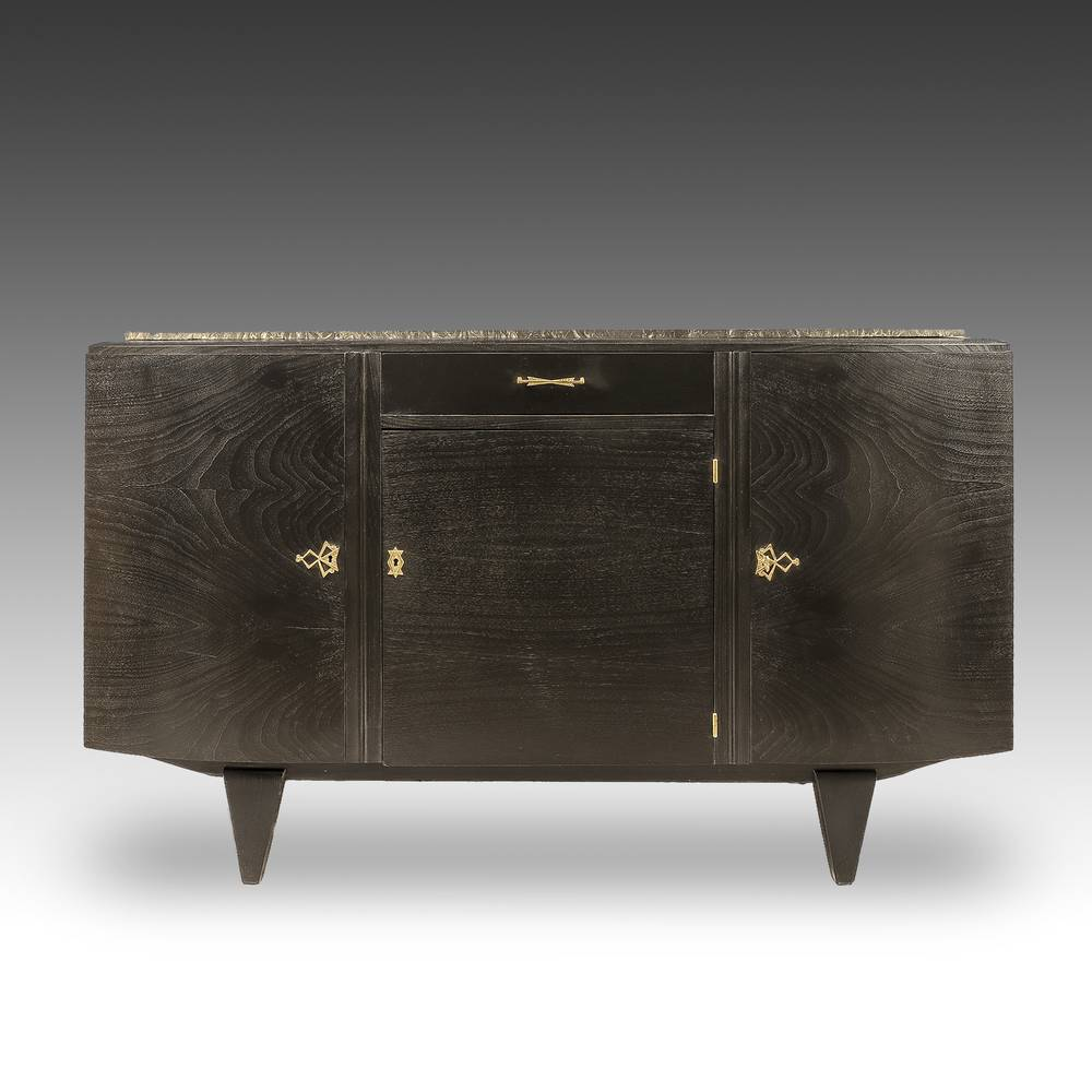 Art Deco Console Cabinet with 3 Doors and 1 Drawer