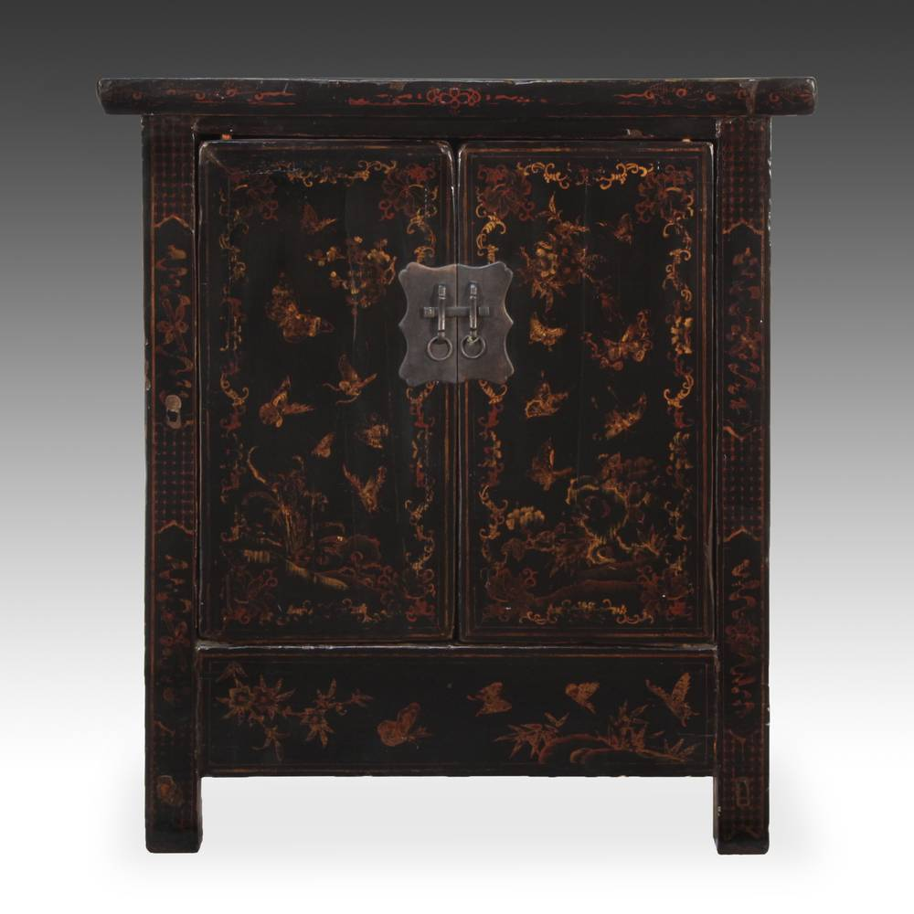 Cabinet with 2 Doors and Butterfly in Landscape Motifs