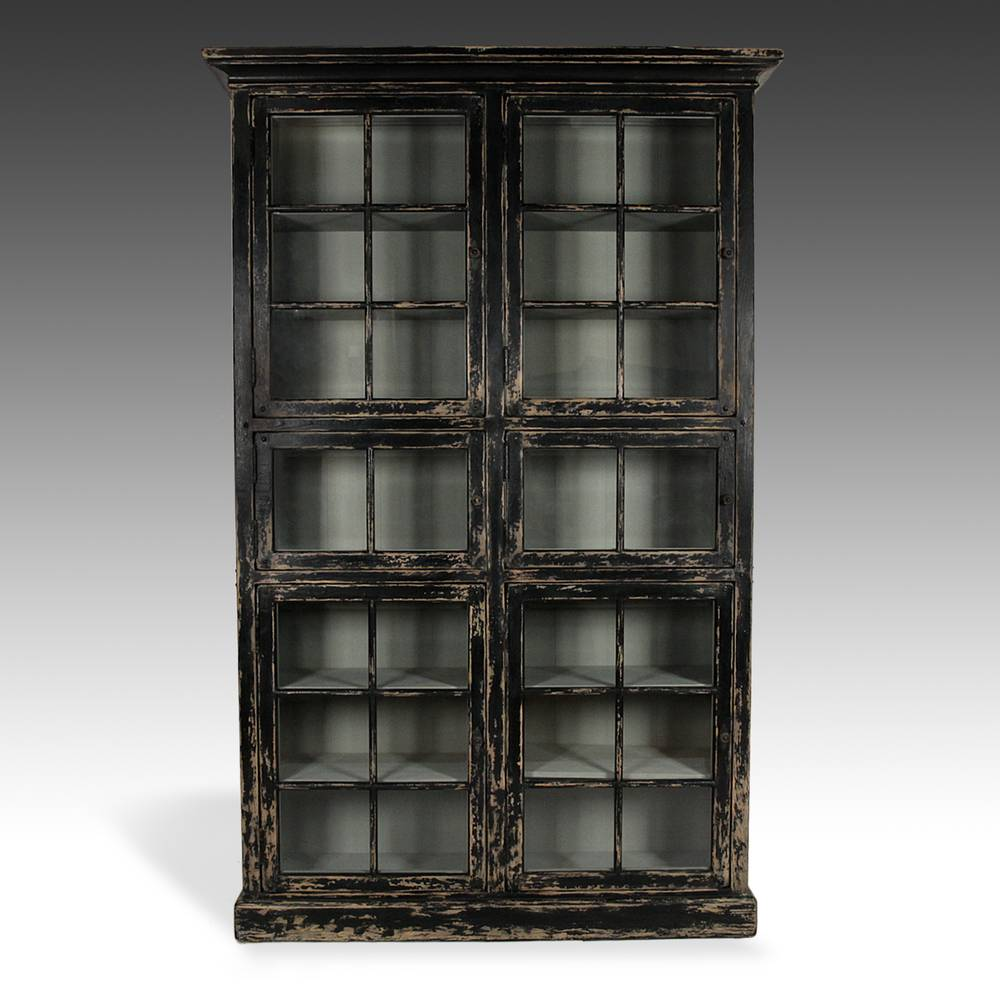Bookcase with Beveled Glass Doors